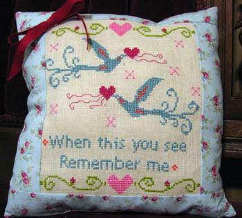 Industrioushead - Valentine Birds - Cross Stitch Pattern-Industrioushead - Valentine Birds - Cross Stitch Pattern