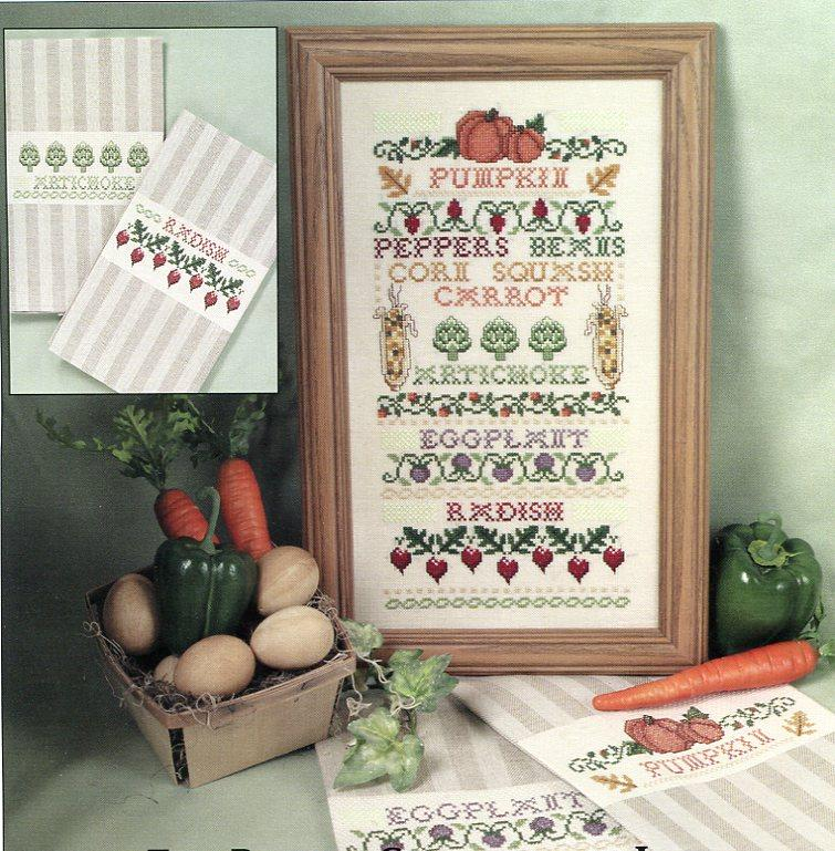 The Design Connection - Vegetable Patch Sampler - Cross Stitch Chart-The Design Connection, Vegetable Patch Sampler, Cross Stitch Chart,