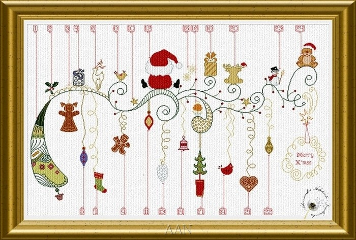 Alessandra Adelaide Needleworks - Waiting for Christmas-Alessandra Adelaide Needleworks - Waiting for Christmas - Cross Stitch Pattern