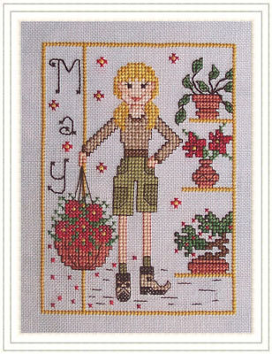 Whispered by the Wind - Elves of the North Pole - Part 05 of 12 - Miss May-Whispered by the Wind - Elves of the North Pole, Miss May, Christmas, Elves, whimsical, cross stitch,