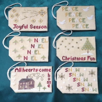 Wendy KC Designs - Christmas Tags-Wendy KC Designs - Christmas Tags, UK designer, ornaments, cross stitch