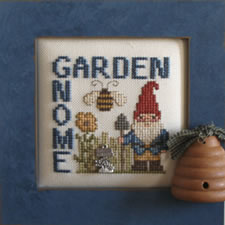 Hinzeit - Charmed Wordplay - Garden Gnome-Hinzeit - Charmed Wordplay - Garden Gnome - Cross Stitch Chart