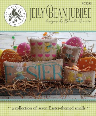 With Thy Needle & Thread - Jelly Bean Jubilee-With Thy Needle  Thread - Jelly Bean Jubilee, Easter, Spring, bunnies, Easter Eggs, flowers, cross stitch