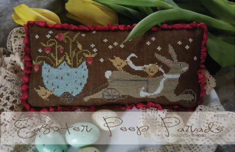With Thy Needle & Thread - Easter Peep Parade-With Thy Needle  Thread - Easter Peep Parade, Easter, bunnies, Easter eggs, spring, chicks, cross stitch