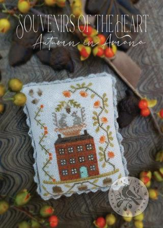 With Thy Needle & Thread - Souvenirs of the Heart -  Autumn in Amana-With Thy Needle  Thread - Souvenirs of the Heart -  Autumn in Amana, fall ,house, home, seasons, cross stitch