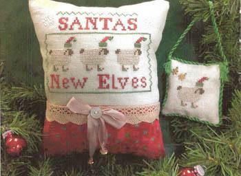 Widgets & Wool - Santa's New Elves-Widgets  Wool - Santas New Elves, Santa Claus, ewes, ornament, Christmas tree, Christmas, cross stitch