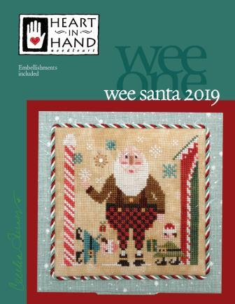 Heart in Hand Needleart - 2019 Wee Santa-Heart in Hand Needleart - 2019 Wee Santa, Santa Claus, Christmas, ornaments, cross stitch