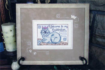 Designs by Lisa - Welcome to my Queendom - Cross Stitch Pattern