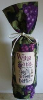 Stitch-A-Gift - Wine a Bit - Bottle Bag