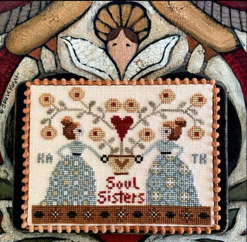 Teresa Kogut - Soul Sisters-Teresa Kogut - Soul Sisters, BFF, stitching, best friends, cross stitch, expo