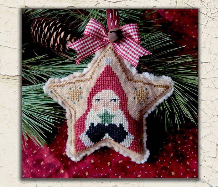 Teresa Kogut - Santa Star-Teresa Kogut - Santa Star , Christmas, Santa Claus, ornament, cross stitch