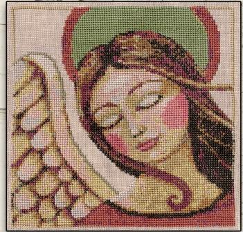 Teresa Kogut - Pray-Teresa Kogut - Pray, angels, God, primitive, folk, cross stitch