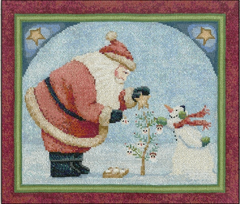 Teresa Kogut - Good Tidings-Teresa Kogut - Good Tidings,Santa Claus, snowman, winter, Christmas tree, cross stitch