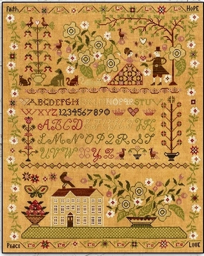 Teresa Kogut - Faith Hope Peace Love-Teresa Kogut - Faith Hope Peace Love, SAMPLER, alphabet, family, cross stitch