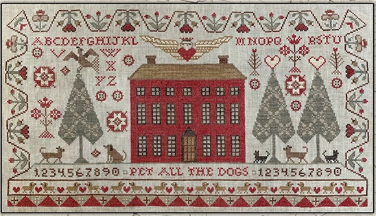 Teresa Kogut - Pet All the Dogs (or Cats)-Teresa Kogut - Pet All the Dogs or Cats, sampler, animals, pets, cross stitch