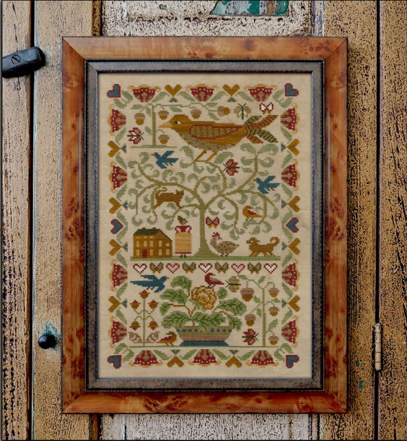 Teresa Kogut - Oh My Bird-Teresa Kogut - Oh My Bird, sampler, flowers, dogs, cats, birds, trees, home, cross stitch