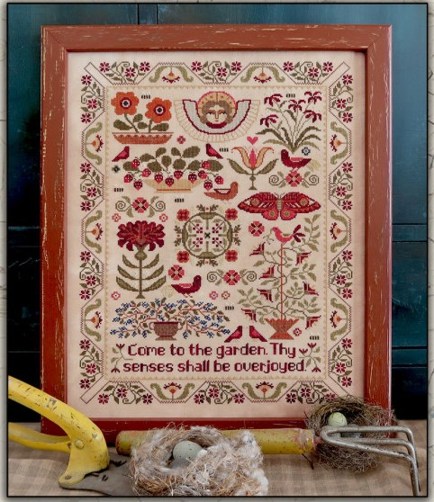 Teresa Kogut - Come to the Garden-Teresa Kogut - Come to the Garden, flowers, delight, flowers, butterflies, cross stitch, 2021 NEEDLEWORK EXPO RELEASE,