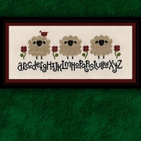 Carousel Charts - Spring Sheep Alphabet-Carousel Charts - Spring Sheep Alphabet - Cross Stitch Pattern