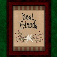 Carousel Charts - Best Friends-Carousel Charts - Best Friends - Cross Stitch Pattern