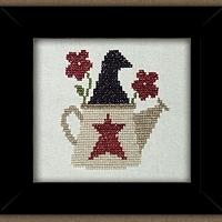 Carousel Charts - Watering Can Crow-Carousel Charts - Watering Can Crow ,Cross, Stitch,Pattern, animals, bird,flower, heart,star,