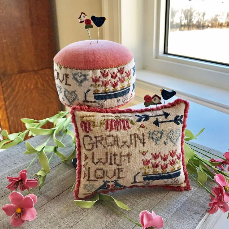Hands On Design - Around the Holidays - Grown With Love-Hands On Design - Around the Holidays - Grown With Love, flowers,  cross stitch