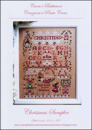 Cuore e Batticuore - Christmas Sampler-Cuore e Batticuore - Christmas Sampler, Christmas trees, children, flowers, samplers, cross stitch