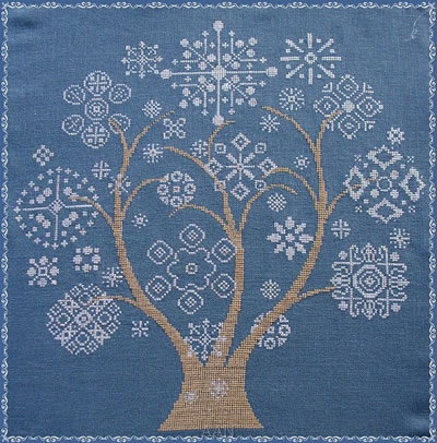 Alessandra Adelaide Needleworks - Alberto Della Neve-Alessandra Adelaide Needleworks - Alberto Della Neve trees, winter, snow flakes, cross stitch pattern