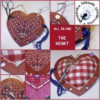 Alessandra Adelaide Needleworks - Heart - All In One Kit-Alessandra Adelaide Needleworks - Heart - All In One Kit