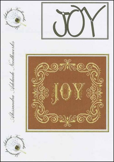 Alessandra Adelaide Needleworks - JOY - Cross Stitch Chart-Alessandra Adelaide Needleworks, JOY, Christmas ornament, Christmas decorations, Cross Stitch Chart