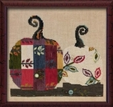 Just Another Button Company - Art To Heart - Bittersweet Pumpkins - Cross Stitch Pattern-Just Another Button Company, Art To Heart, Bittersweet Pumpkins, Fall, quilted pumpkins, Thanksgiving, fall leaves, Cross Stitch Pattern