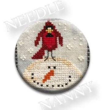 Stitch Dots - Amy Bruecken - Heaven's Wink Needle Nanny-Stitch Dots - Amy Bruecken - Heavens Wink Needle Nanny, cardinal, snowman, winter, magnet, cross stitch