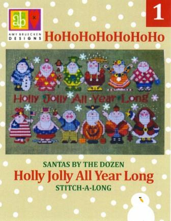 Amy Bruecken Designs - Holly Jolly All Year Long Part 01-Amy Bruecken Designs - Holly Jolly All Year Long Part 01, Santa Claus, July, Christmas, Cross stitch