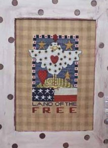 Amy Bruecken Designs - Land of the Free-Amy Bruecken Designs - Land of the Free, chicken, USA, freedom, patriotic,