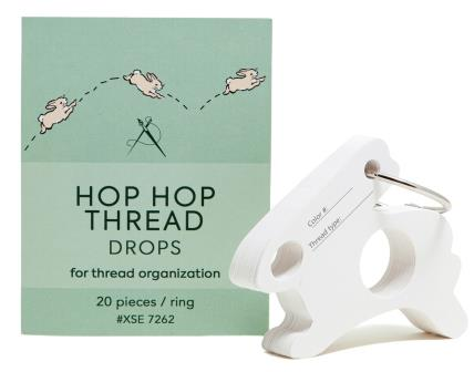 Access Commodities - Hop Hop Thread Drops with Ring-Access Commodities - Hop Hop Thread Drops with Ring, floss organizer, cross stitch, rabbit,