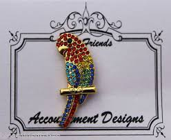 Accoutrement Designs - Parrot Needle Minder-Accoutrement Designs - Parrot Needle Minder, needle nanny, magnet, cross stitch