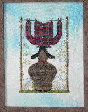 A Kitty Kats Original - My Woolshirt-A Kitty Kats Original - My Woolshirt -lamb, favorite shirt, plaid shirt,  Cross Stitch Pattern