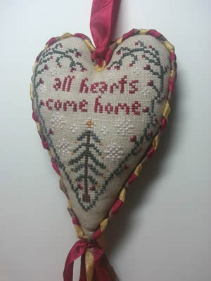 Island Cottage Needlearts - All Hearts Come Home-Island Cottage Needlearts - All Hearts Come Home, Christmas, family love, cross stitch, hearts,