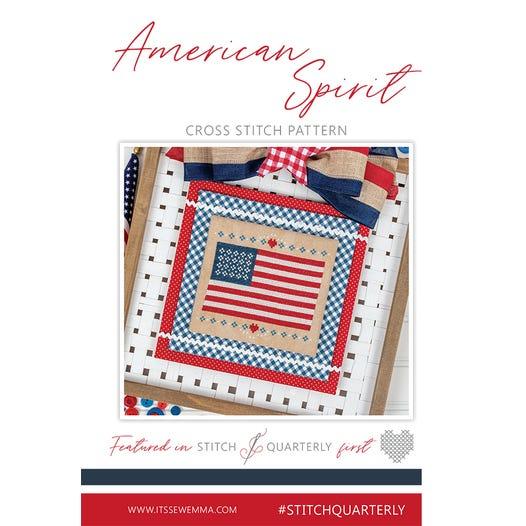 It's Sew Emma Stitchery - American Spirit-Its Sew Emma Stitchery - American Spirit, USA, patriotic, American flag, home, cross stitch