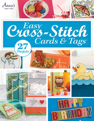Annie's - Easy Cross Stitch Cards & Tags - Cross Stitch Book-Annies, Easy Cross Stitch Cards  Tags, Beach Cottage Stitchers,  Cross Stitch Book