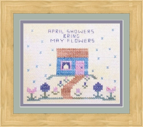 Flowers 2 Flowers - April Showers - Cross Stitch Kit-Flowers 2 Flowers April Showers Cross Stitch Kit
