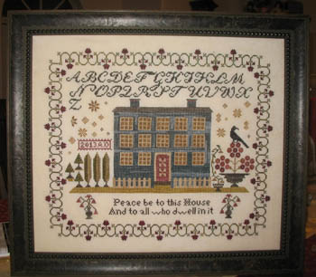 Abby Rose Designs - Blue Manor-Abby Rose Designs,Blue Manor,Blessings, prayers, family, home, Cross Stitch Pattern