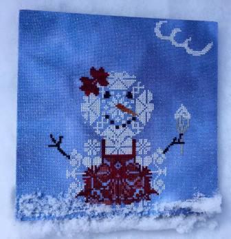 AuryTM - Too Happy-AuryTM - Too Happy, snowman, happiness, ice cream cone, cross stitch