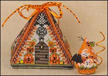 Just Nan - Haunted Autumn Mouse in a House & Embellishments - Limited Edition