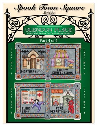 Glendon Place - Spook Town Square Part 4-Glendon Place - Spook Town Square Part 4, Halloween, sampler, cross stitch