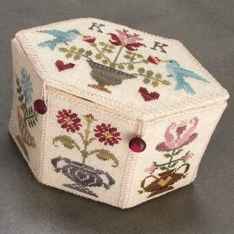 Blackberry Rabbit Designs - Garden Box-Blackberry Rabbit Designs - Garden Box , flowers, cross stitch box