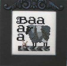 Hinzeit - Charmed Wordplay - BAA BAA-Hinzeit - Charmed Wordplay - BAA BAA - Cross Stitch Chart