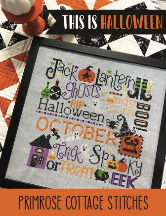 Primrose Cottage Stitches - This is Halloween-Primrose Cottage Stitches - This is Halloween, fall, ghosts, pumpkins, trick or treat, cross stitch