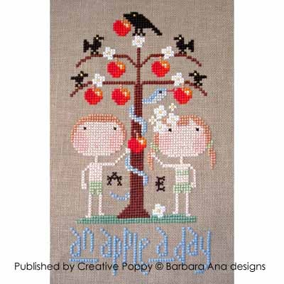 Barbara Ana Designs - An Apple a Day - Cross Stitch Chart