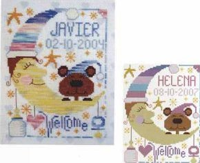 Barbara Ana Designs - New Baby - Boy/Girl-Barbara Ana Designs,New Baby, BoyGirl, Sampler, baby announcement, baby welcome, Cross Stitch Pattern