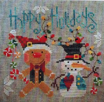 Barbara Ana Designs - Christmas Pals-Barbara Ana Designs, Christmas Pals, gingerbread man, snowman, christmas lights, christmas decorations, Cross Stitch Pattern